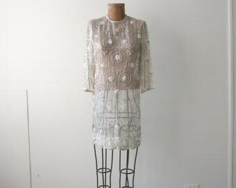 Sheer Glass Beaded Dress