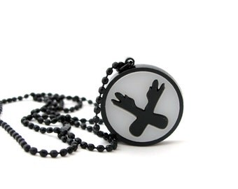 Nerdfighter Logo Necklace -  Acrylic - Great geeky accessory gift