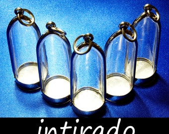 Intirado, Terrarium, Dome Pendant, Display Cases, Diorama, Empty Cases, Jewelry Display, Necklace Making, Reliquaries, Craft Supplies, 5pcs