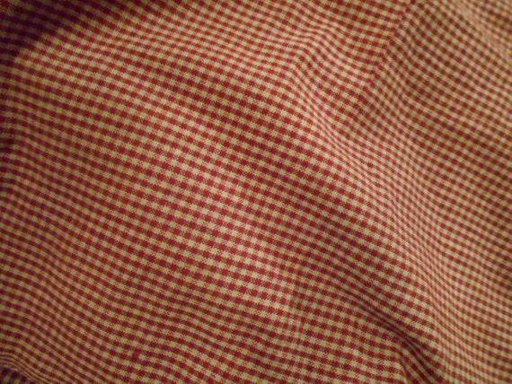 Primitive Tiny Check Gingham Fabric Homespun Barn Red 1 2 Yard