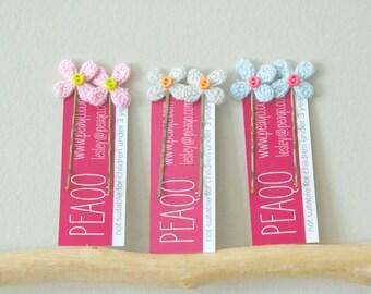 Girl's Crochet Flower Bobby Pins