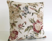 Linen Cotton Pillow Cover, 16x16 Cushion Cover, 16 Inch Pillow Case - Country House Natural