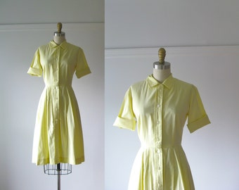 vintage 1950s dress / 50s dress / My Little Buttercup