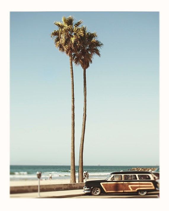 Large Wall Art, Photography,Pacific Coast Highway, Woodie, California, Vintage Color, Fine Art Print