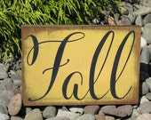 Fall | Rustic Fall Sign | Free Hand Painted Wood Sign | 5x7 | Harvest | Autumn| Thanksgiving | Halloween Decor