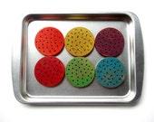 Wooden Cookies LARGE Rainbow Sprinkle Pretend Play Food Waldorf Toy