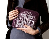 Last One SALE London House Printed Cotton Pouch No. ZPF-101