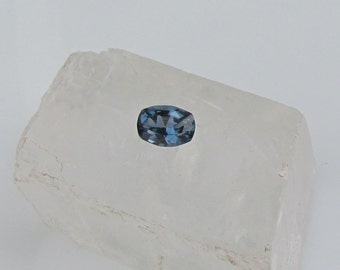 Blue Spinel Cushion 8.4 x 6 MM for Anniversary Ring Blue Sapphire Alternative