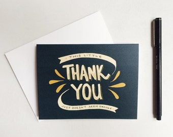 thank you just doesn't seem enough - folded greeting card with envelope