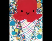 Ice Cream Cone Plush - Happy Ice Cream Face - Cute Sweet Playfood