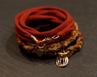 Earth Lotus/ Warrior wrap/necklace/bracelet