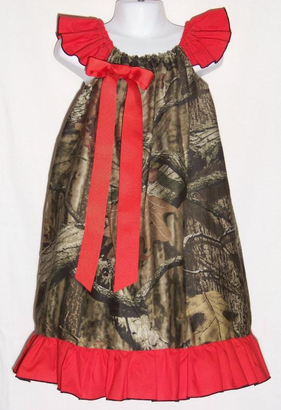 camo ruffle dress red mossy oak flower girl duck