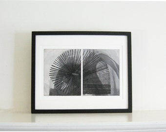 "Enjoy 30 % off -use THX30.  Large Print . Etching .Black and White Home Decor : Arc. Print Size 13"" x 19"" . Unframed"