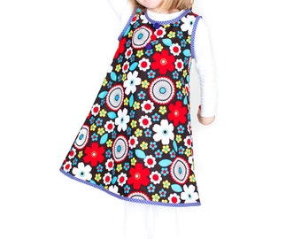 Girls Pinafore Dress - Easy Sewing Pattern by Anna Vickery - Instant PDF Download - Multi Size Ages 1 to 5 included