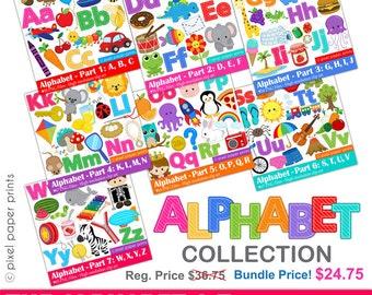 Alphabet Clipart  - ABC clip art - Bundle price - School clip art