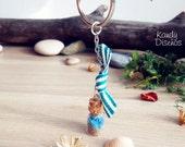 Beach Glowing bottle keychain. Sea Sand Keychain. Beach wedding, Nature gifts, Beach Party nautical favor birthday, gift ideas, communion