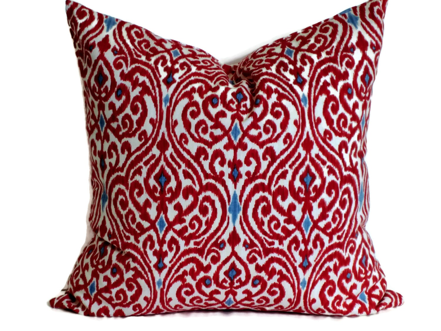 Waverly Ikat Pillow Cover Decorative Pillow by MissEvaDivaDesigns