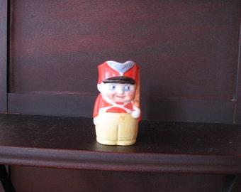 Cream Pitcher Soldier