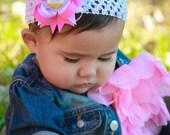 My First Birthday Day Hair Bow - 1st Birthday - Birthday Hair Bow - Pink and Purple Hair Bow - Birthday Headband - Newborn Headband - Baby
