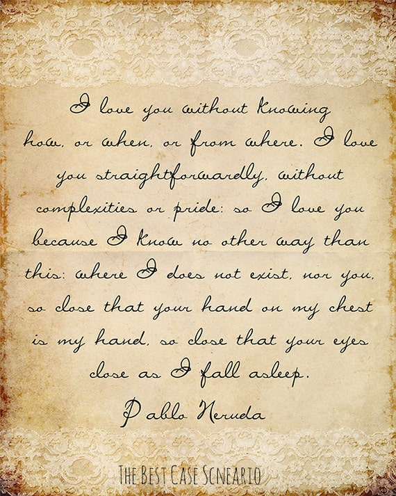 Ode to Thread by Pablo Neruda
