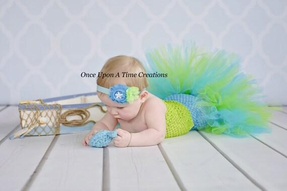 Under The Sea Starfish Headband Newborn Baby Hairbow