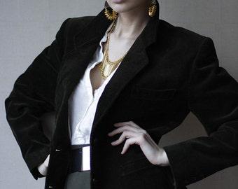 KENZO Paris dark forest green corduroy blazer jacket M