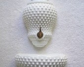 Vintage Fenton Lavabo 1950s Hobnail/Milk Glass/Cottage Chic/Fountain/Spigot/Wash Basin/Cistern/Home Decor/Water/Gifts/Holiday/Gift/Wedding