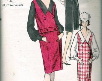 "Vintage 1960's Vogue 6299 Jumper & Blouse Sewing Pattern Size 16 Bust 36"""
