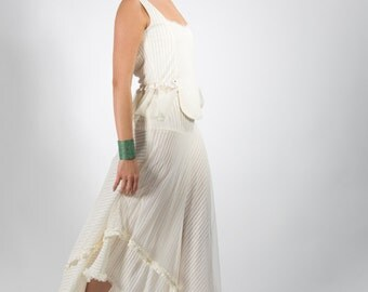 Bohemian wedding dress set,Beach wedding,Open back wedding dress set,Woodland wedding dress,Boho wedding dress,Maxi skirt,White skirt