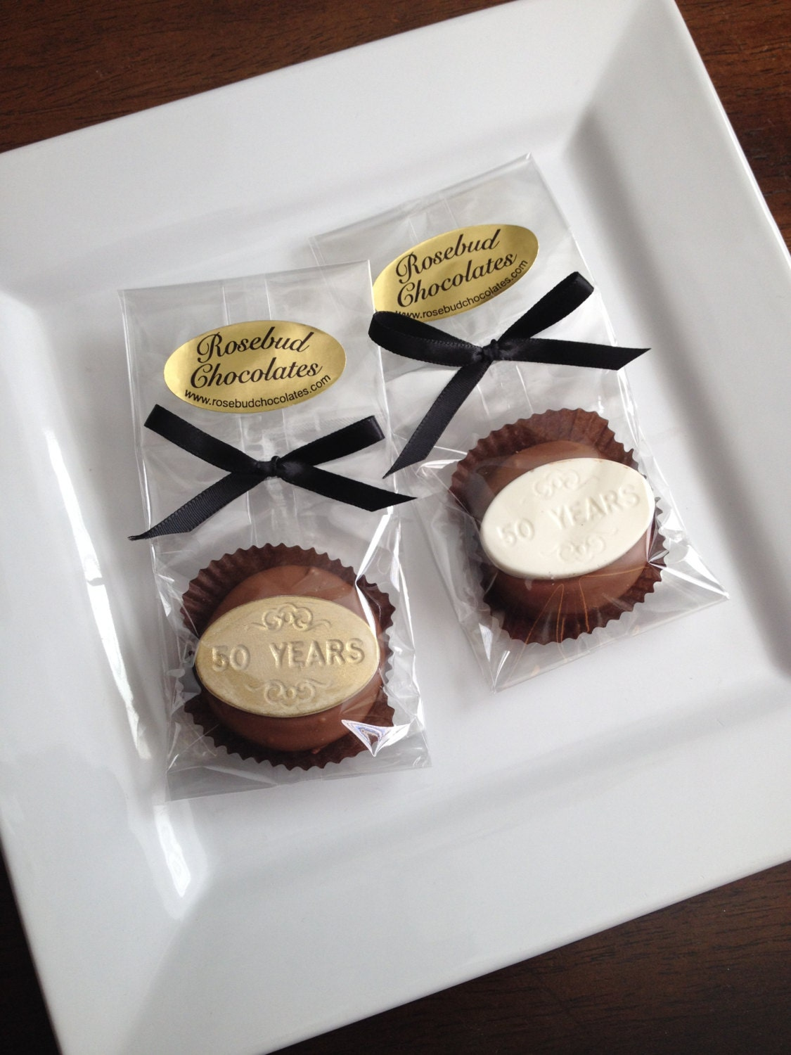 12 Chocolate 50 Years Oreo Cookie Favors By Rosebudchocolates