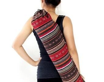 Handmade Yoga Mat Bag Yoga Bag Sports Bags Tote Yoga Sling bag Pilates Bag Pilates Mat Bag Woven Yoga Bag Women bag Woven Cotton bag (WF38)
