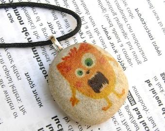 monster , monster necklace, monster pendant, cute monster necklace, monster for children, monster for kid,little monster,my monster necklace