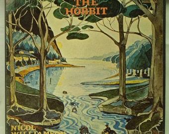 The Hobbit Vinyl Record Set - JRR Tolkien classic novel Read by Nicol Williamson 4x LP Set - 1974 Album