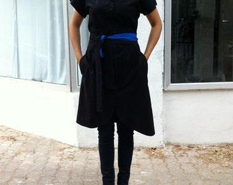 Japanese kimono Blue dress dress black and White dress