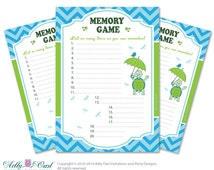 memory game for baby shower printable card for baby turtle shower
