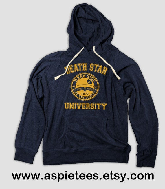 funny death star university pullover tee with hood by aspietees. Black Bedroom Furniture Sets. Home Design Ideas