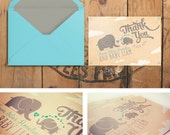 Personalized Baby Shower Thank You Cards: Vintage Elephants - Eloise
