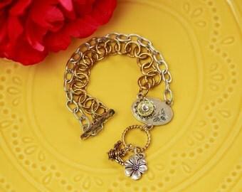 Bullet Casing Jewelry - Bee-lieve Bullet Bracelet (9mm)