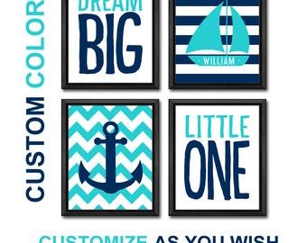 nautical boy decor anchor boat, nautical nursery poster, personalized nautical nursery wall art, nautical kids decor, nautical baby decor