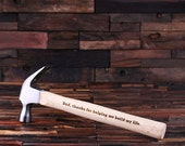 Personalized Engraved, Monogrammed Wood Carpenter Hammer  Gag, Funny Father's Day Gift, Gift of Him