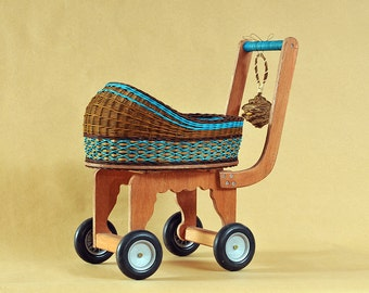 Doll Carriage  Blue Design