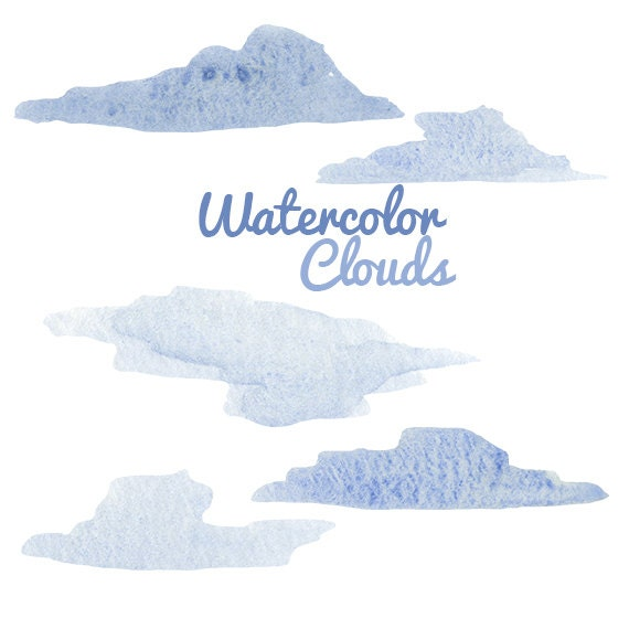 How to Paint Watercolor Clouds Watercolor Painted Clouds Clip