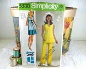 Vintage 1970 Top & Pants Pattern, Simplicity Sewing Pattern 8830, Year 1970