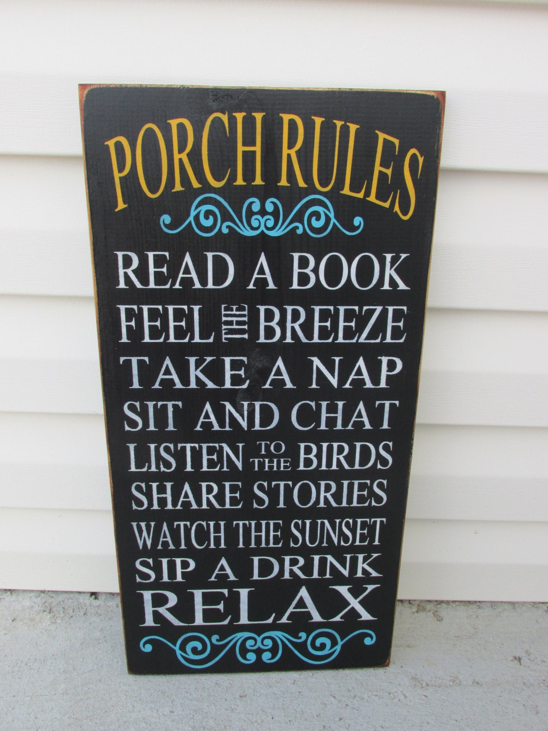Porch rules sign porch signs outdoor decor sign patio for Outdoor decorative signs