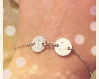 Bracelet with initial silver