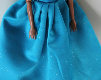 11.5 inch dolls clothes - blue gown (64)