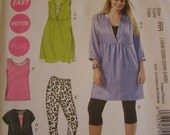 McCall's M6364 Tunics, Dress, Leggings in Two Lengths and Tank Top Size Women's/Women's Petite 18w, 20w, 22w, 24w - UNCUT - Plus Size