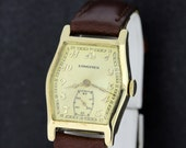 14K Gold Longines Columbus Wrist Watch 1920s-1930s