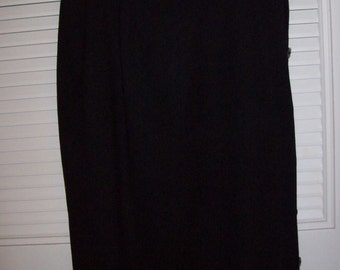 "Skirt 12, Long wool skirt by Hall's of Kanas City. ! Side-split with  18"" buttoned or not to button. size 12"