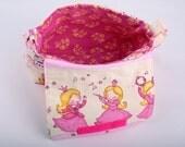 Girls shoulder bag girls handbag pink girls handbag motiv bag for girls unique fabric handbag princess little girl bag gift for girls